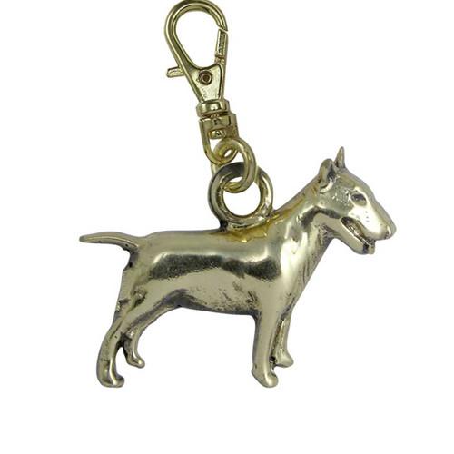 Bull Terrier Brass Zipper Pull
