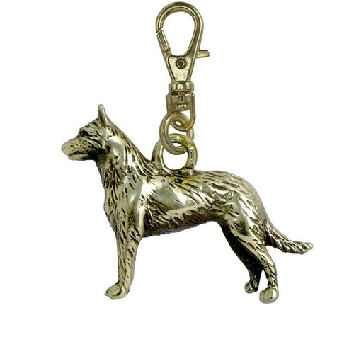 Belgian Malinois Brass Zipper Pull