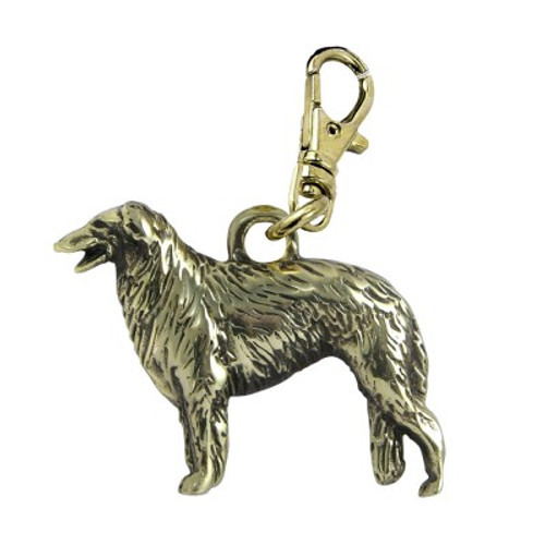 Borzoi Brass Zipper Pull