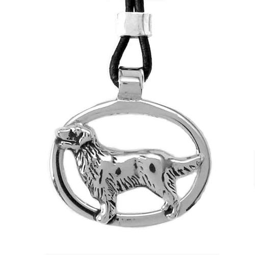 Oval Pendant with Dog Breed