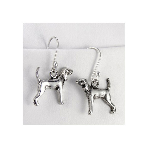 Black and Tan Coonhound Earrings