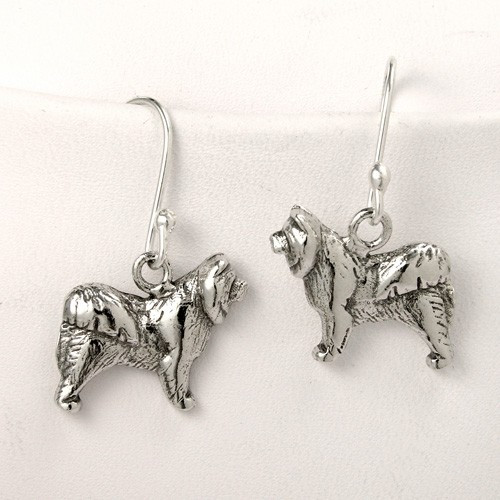 Chow Chow Profile Earrings