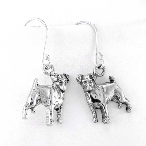 Jack Russell Terrier Sterling Silver Earrings