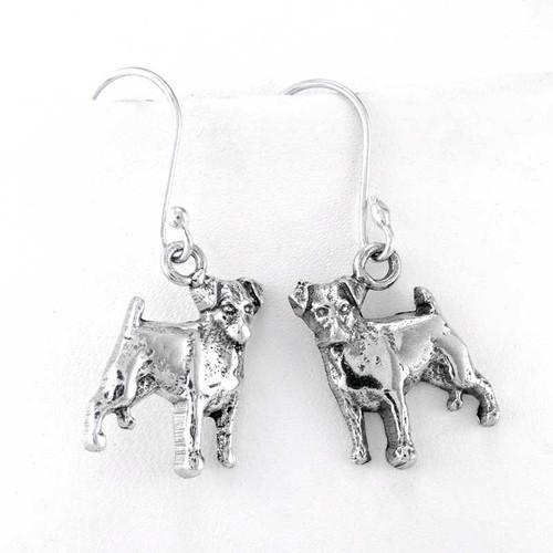 Jack Russell Terrier Sterling Silver Earrings