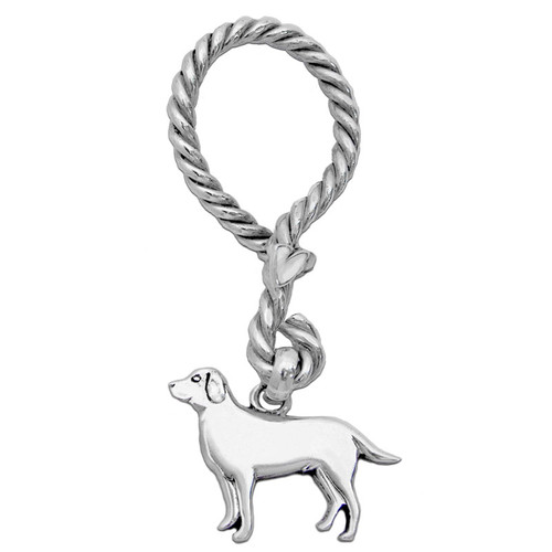 Nautical Key Ring Twisted with Large Labrador Charm