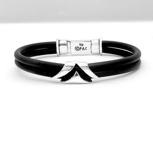 Box Clasp Viscount Rubber Bracelet