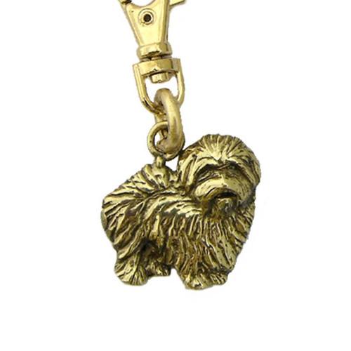 Coton De Tulear Brass Zipper Pull