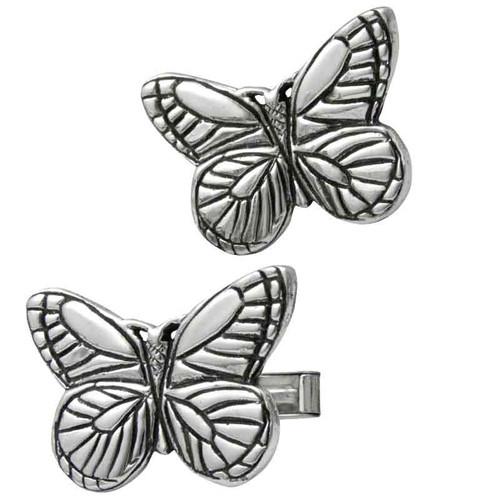 Butterfly Cufflinks in sterling silver