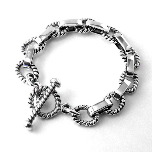 Twisted Plain Link Bracelet