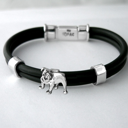 Box Clasp Breed Rubber Bracelet