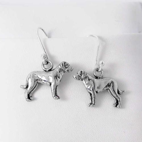 Sterling Silver Greater Swiss Mountain Dog Earrings