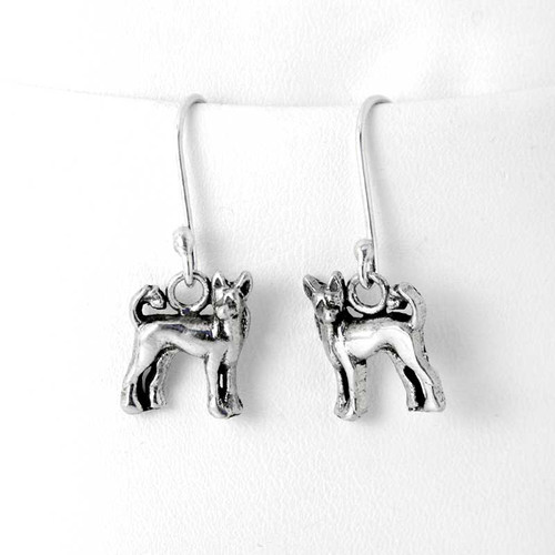 Chinese Crested Sterling Silver Earrings