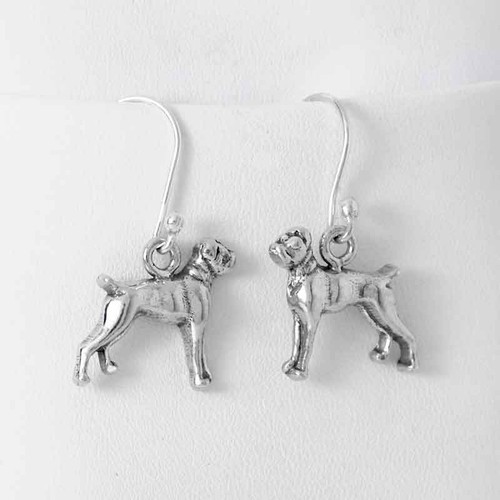 Boxer Earrings Flop Ear Sterling Silver