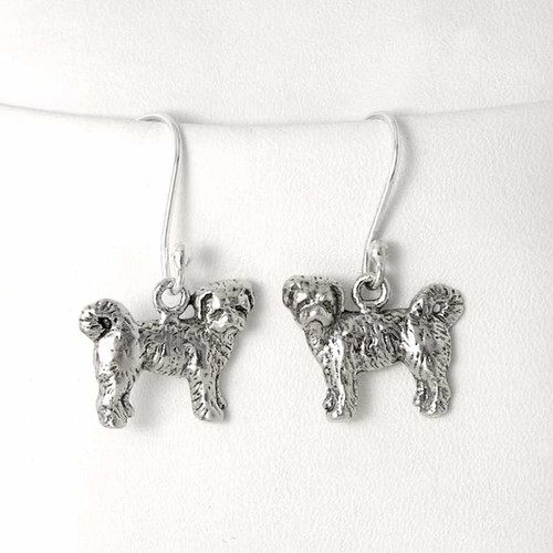 Tibetan Terrier Puppy Earrings