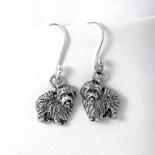 Coton de Tulear Sterling Silver Earrings