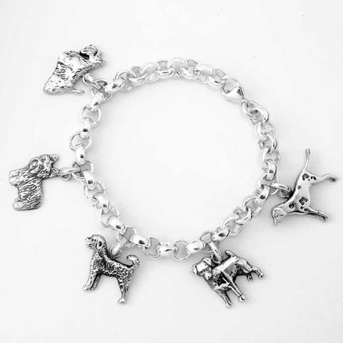 Rolo Dog 5 Charm Bracelet
