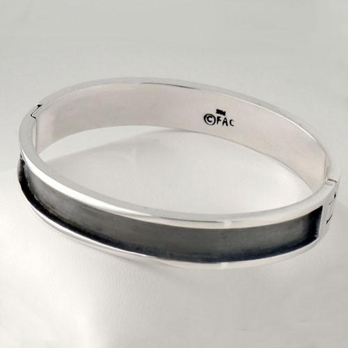 Heavy Black Silver Bracelet
