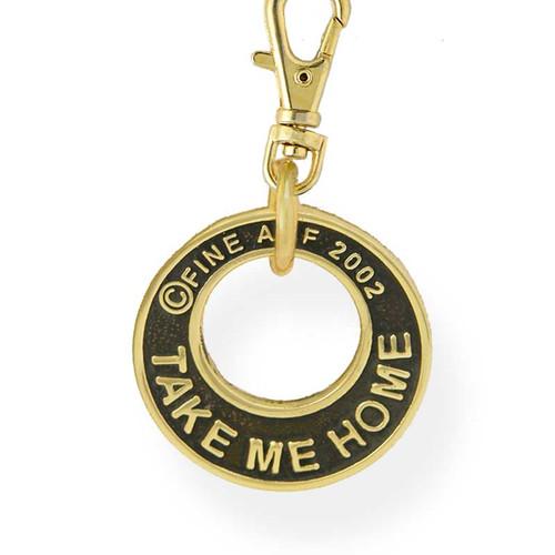 Take Me Home Dog ID Tag Brass