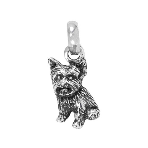 Yorkie Puppy Large Charm -  Sitting