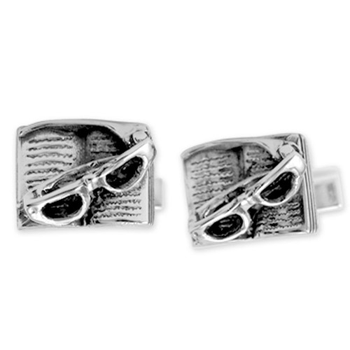 Book and Glasses Cufflinks