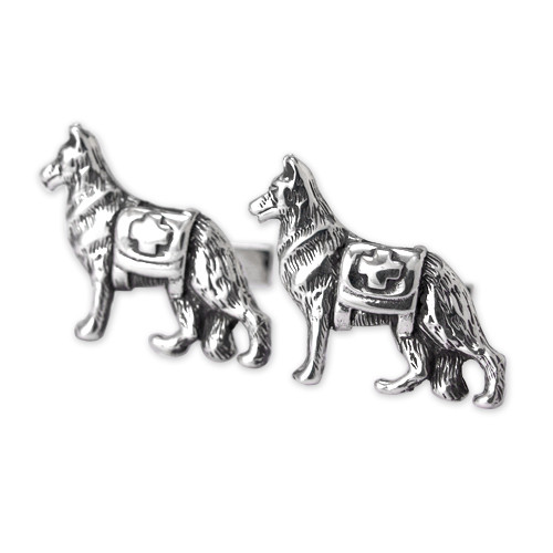 German Shepherd Service Dog Cufflinks
