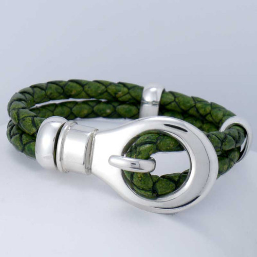 Scoop Braided Leather Bracelet