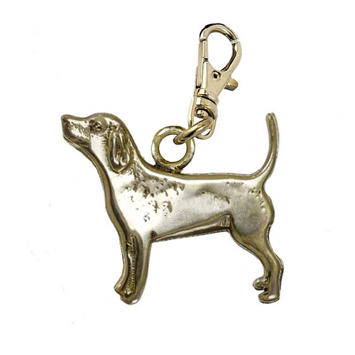 Beagle Brass Zipper Pull