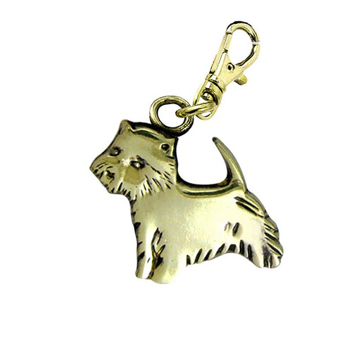Westie Brass Zipper Pull