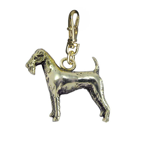 Irish Terrier Brass Zipper Pull