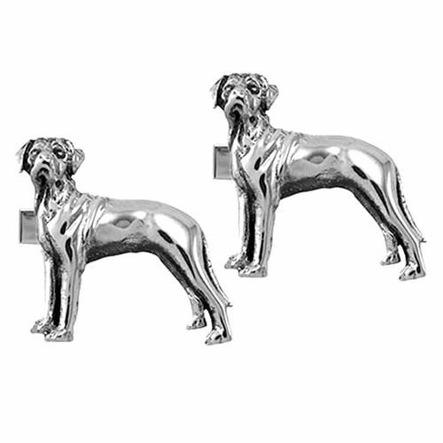 Rhodesian Ridgeback Cufflinks Jewelry Sterling Silver Handmade Dog Cufflinks RDG3-CL