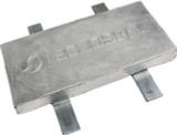 Weld on Rectangular Plate Hull Anode Zinc w/ 4 Straps