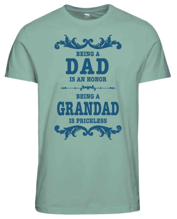 """""""Being a Dad is an Honor Being a Grandad is Priceless Tshirt"""""""
