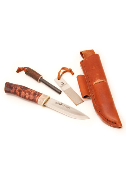 Karesuando Galten Survival Knife (The Boar) With Fire Flint and Diamond Sharpener