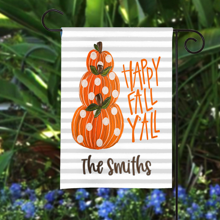 Personalized Garden Flag - Happy Fall Y'all