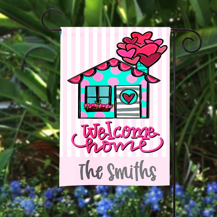 Personalized Garden Flag - Welcome Home