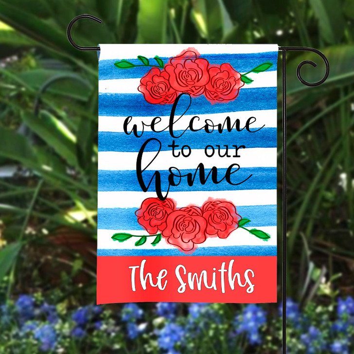 Personalized Garden Flag - Welcome to our Home