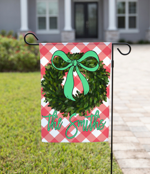 Green Wreath with Bow