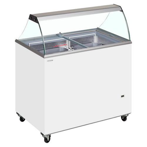 SC Canopy Range Scoop Ice Cream Display - IC400SC + CANOPY