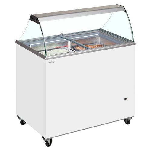 SC Canopy Range Scoop Ice Cream Display - IC500SC + CANOPY