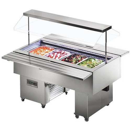 Isola VT Cold Range Buffet Display - ISOLA 8 VT SS