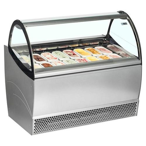 Millennium Range Ventilated Scoop Ice Cream Display - MILLENNIUM SP12+12
