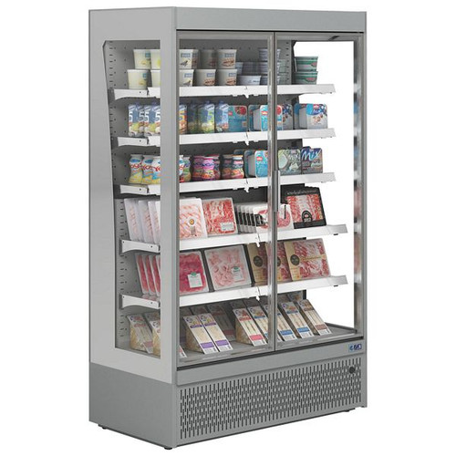 Slim Range Wall Site Multideck With Doors - SLIM RV130TN GD INOX