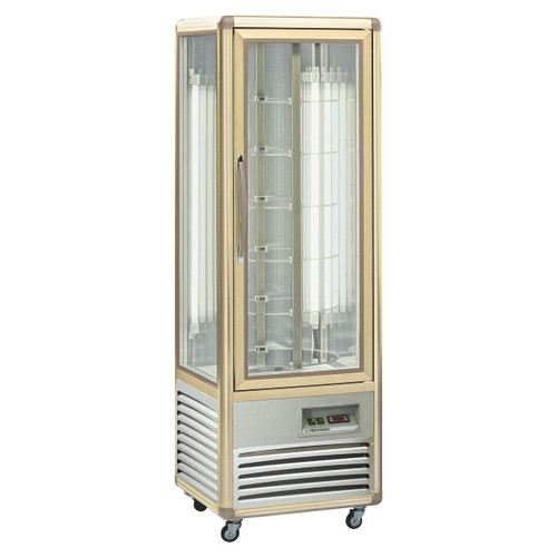 Glass Sided Rotating Shelf Display Chiller - REV 4