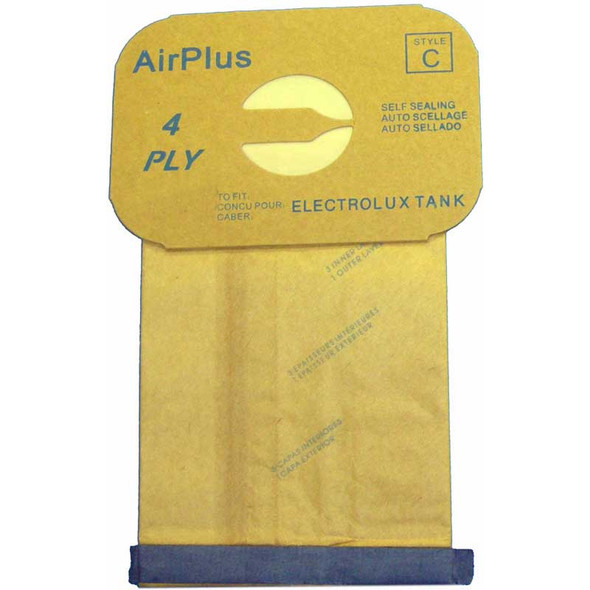 """EXR-1405 Manufacturer Part No.: 805FP PAPER BAG, LUX TANK 4PLY ENV 12PK CARDBOARD IS 6.75"""" X 4.5"""" ON THIS BAG FITS MODELS 1205 - EPIC REAL LUX TANKS"""