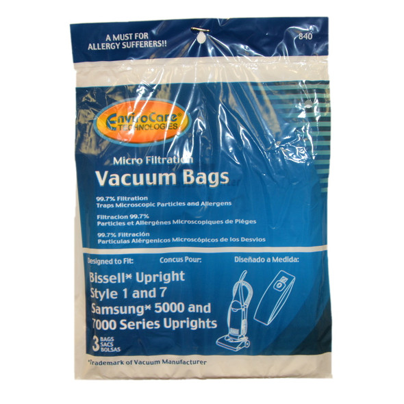 SMR-1415 Manufacturer Part No.: 840 PAPER BAG, VPU100 5000 7000 MICRO BISSELL 1/7 3PK