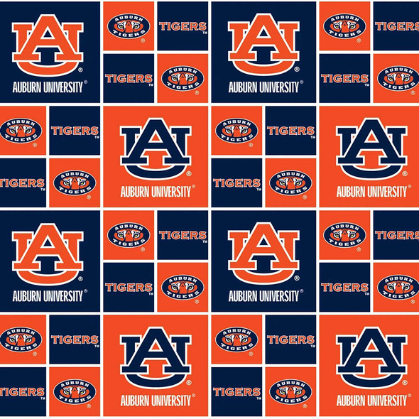 AUBURN UNIVERSITY-AU020 Cotton 1 YARD CUT