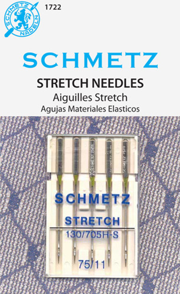 The medium ball point and specially designed eye & scarf help prevent skipped stitches and make this the perfect needle for knits, elastic or other stretch fabrics. System: 130/705 H-S