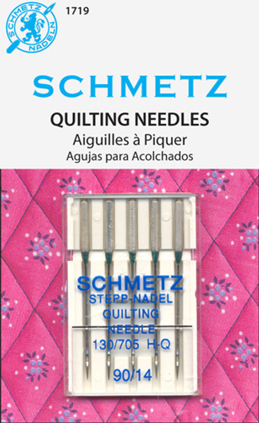 This needle has a special taper to the slightly rounded point which easlily penetrates the thick layers of your quilt while preventing damage to the materials. System: 130/705 H-Q. Size