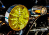 Front  White Amber Dual LED Turn Signal Kit Harley Day Time Running Touring Maker 1157
