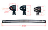 "Curved T-Series 50"" OZ-USA® Triple Row LED Light Bar Flood + Spot Beam with Security Hardware Kit Offroad 4x4 SUV Truck"